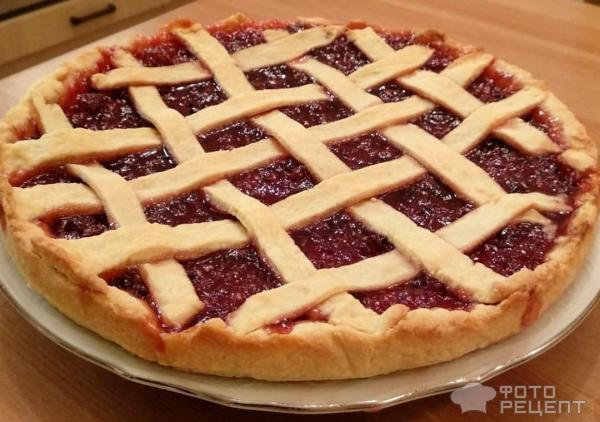 Пирог из рубленого теста с вареньем фото