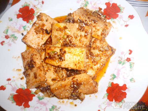 Тофу жареный фото