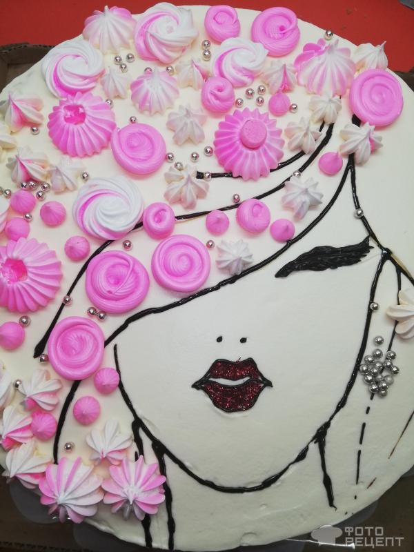 Торт бисквитный Праздник Весны 8 Марта фото