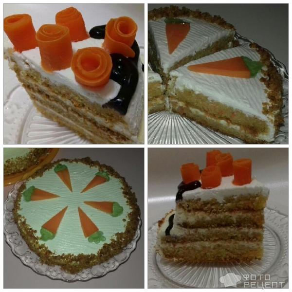 Морковный торт Carrot cake фото