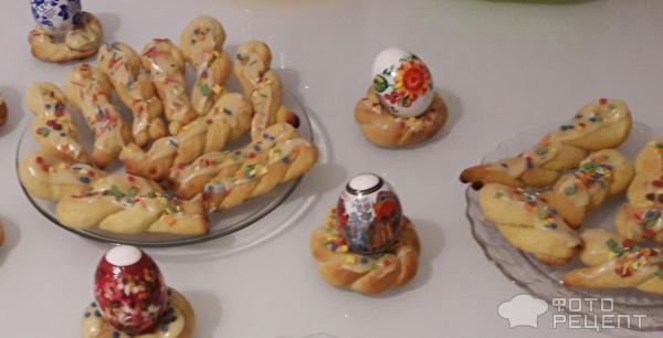 Греческое пасхальное печенье Кулуракья фото