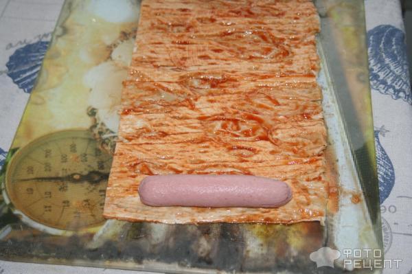 Шашлычки из сосисок и лаваша