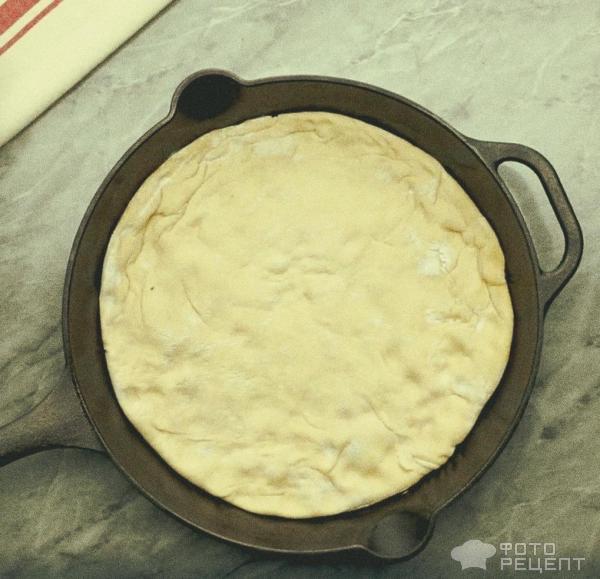 тесто на сковороде