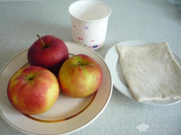 Яблоко в слоеном тесте фото