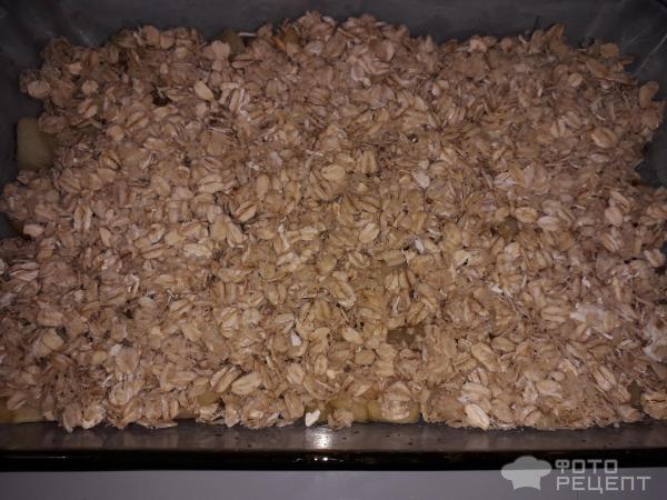 Яблочный крамбл фото