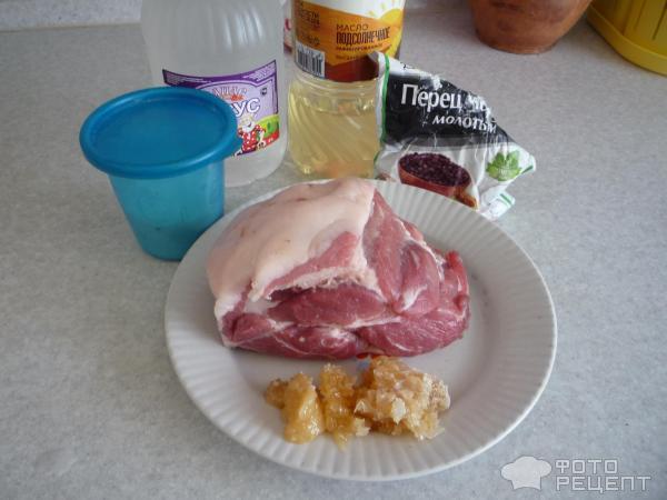 Свинина в медовом маринаде фото
