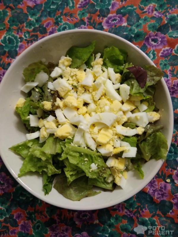 Салат с китайской редькой и яйцом фото