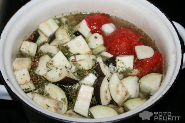 Ароматный суп-пюре с баклажанами