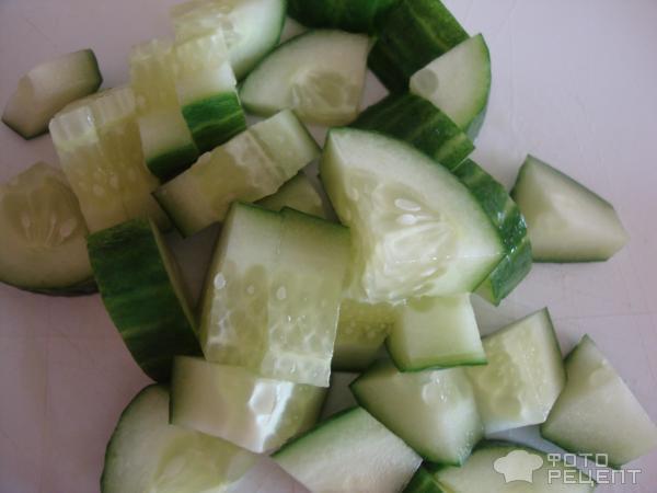 Салат с мясом краба фото