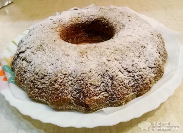 Бисквитный пирог с лимоном фото