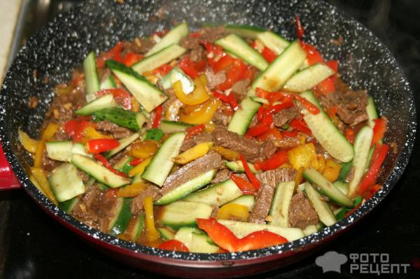 Теплый салат в паназиатском стиле