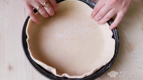 Пирог с копченостями фото