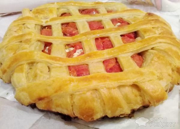 Сырный пирог с помидорами фото