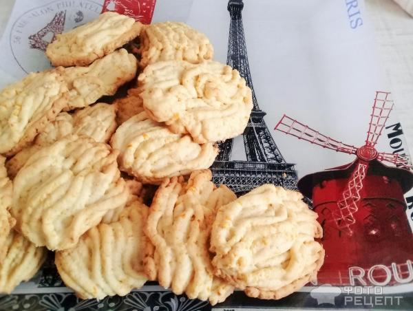 Печенье с апельсиновыми корочками фото