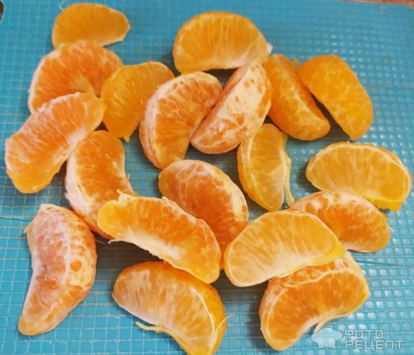 Кекс с мандаринами и вишней фото