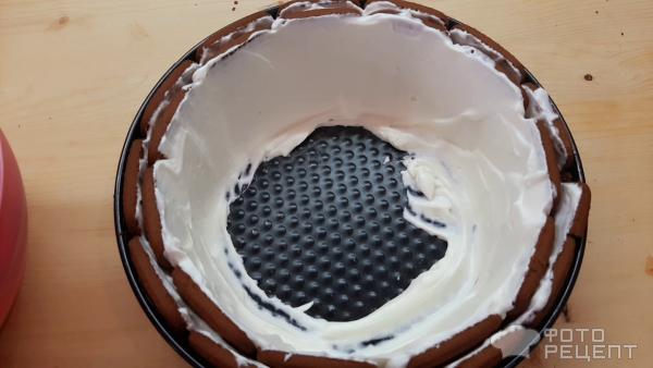 Торт без выпечки из шоколадного печенья фото