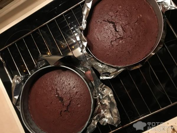 Шоколадно-кофейный торт фото