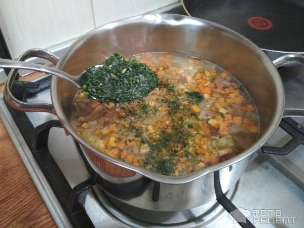 Грибной суп из маслят фото