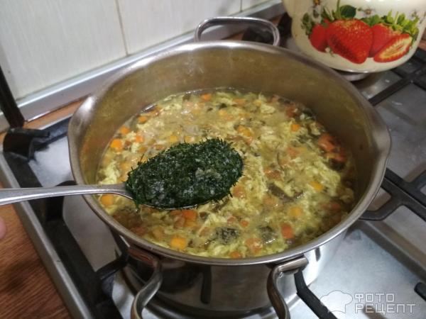 Суп из морской капусты фото