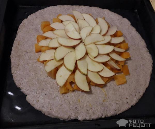 Галета на кипятке с яблоками и тыквой фото