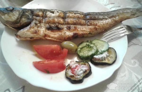 Жареный сибас фото