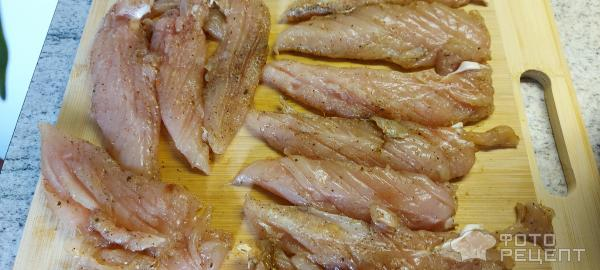 Куриная грудинка в соусе на сковороде фото