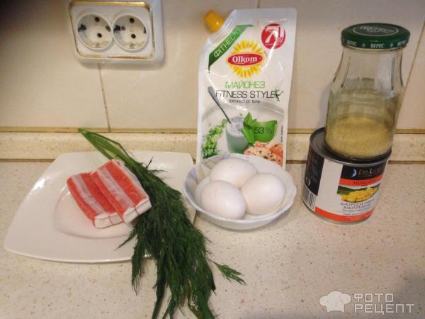 Крабовый салат Легкий фото
