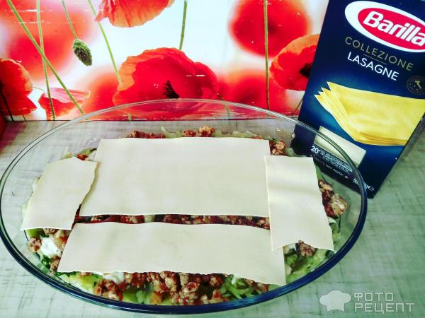 Запеканка с кабачками и мясным фаршем фото