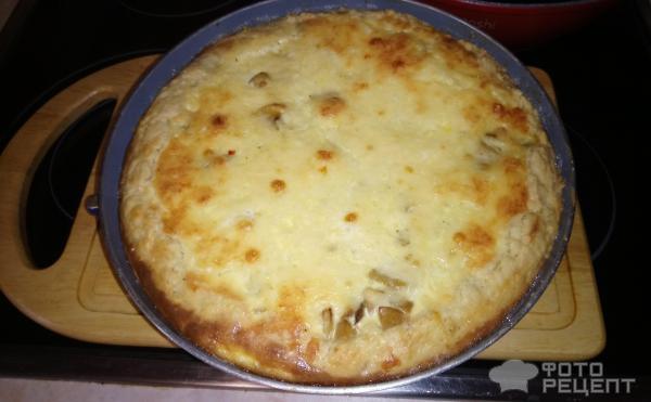 Французский открытый пирог киш Лорен фото