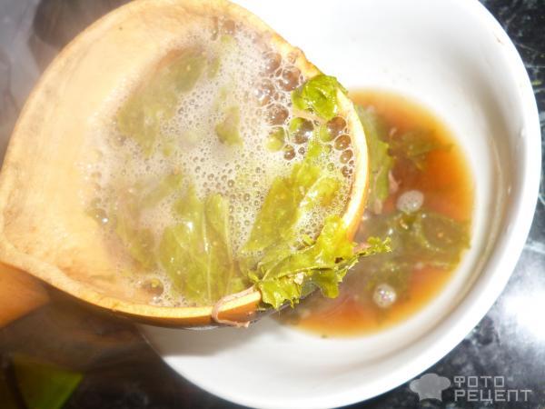 Серяги тя мури-корейский суп из молодой сушеной пекинской капусты фото
