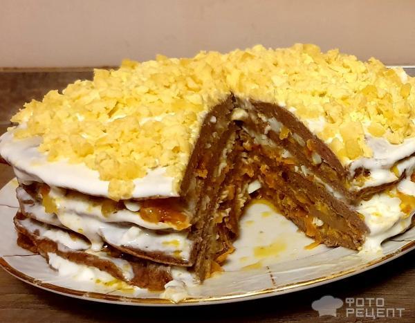 Печеночный торт из куриной печени с луком и яйцом