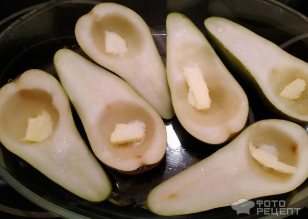 Груши, запеченные в духовке с рикоттой и медом фото