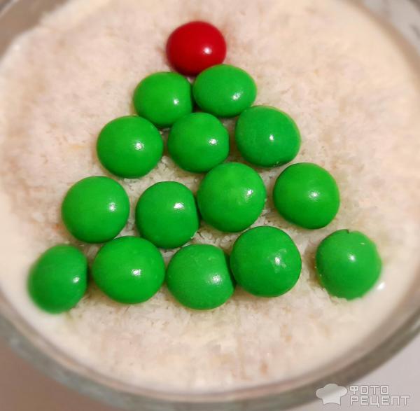 Десерт Мандарины в снегу фото