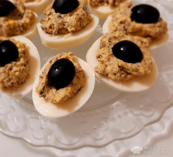 Яйца фаршированные грибами фото
