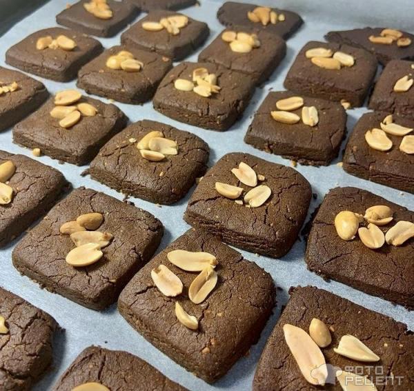 Печенье с арахисовой пастой фото