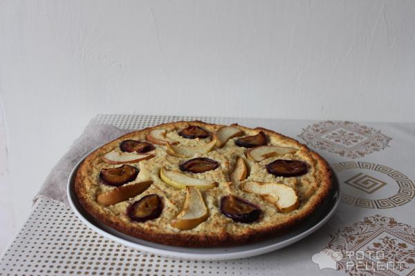Пирог со сливами фото