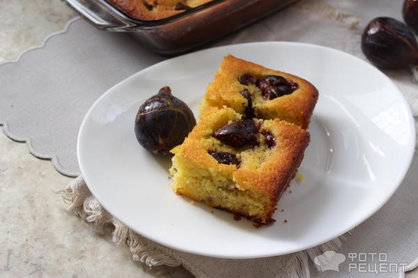 Пирог с инжиром фото