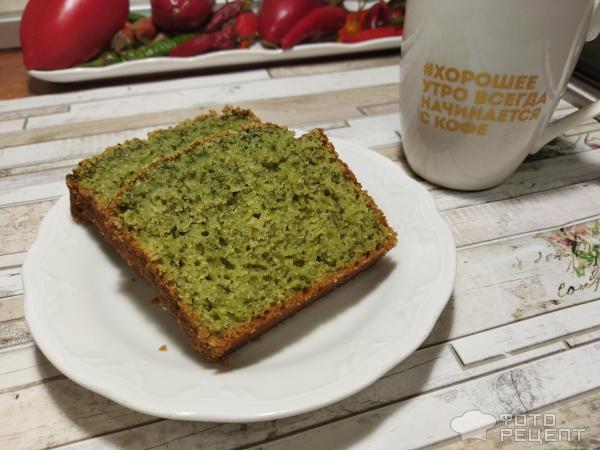 Зеленый кекс фото