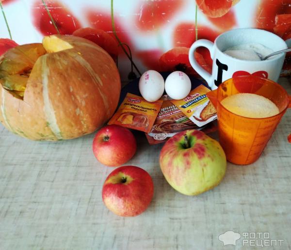 Тыквенно-яблочная запеканка фото