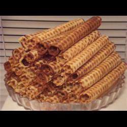 Рецепт: Вафельные трубочки