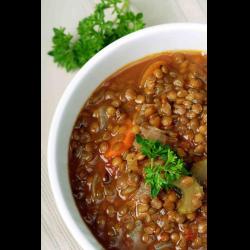 Рецепт: Куриный суп с бобовым ассорти