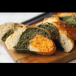 Рецепт: Трехцветный домашний хлеб