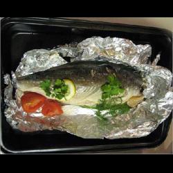 Рецепт: Рыбка, запеченная в духовке