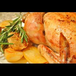 Рецепт: Курица запеченая с тыквой