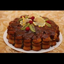 Рецепт: Торт из готовых коржей