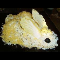 Рецепт: Салат из печени кролика