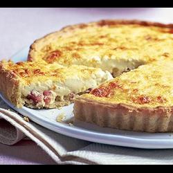 "Рецепт: Французский открытый пирог киш ""Лорен"""