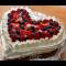 Фото Творожно-ягодный торт Валентинка