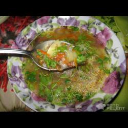 Рецепт: Постный суп с гречневой крупой