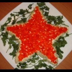 """Рецепт: Салат """"Звезда"""""""